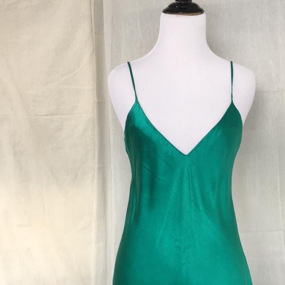 31f975d32762 Victoria's Secret Intimates & Sleepwear   Vtg Vs Pure Silk Emerald ...